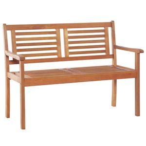 vidaXL 2-Sitzer Gartenbank 120 cm Eukalyptus Massivholz