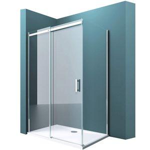 Duschabtrennung Rav18 in Klarglas ESG mit NANO 90x120cm Dusche mit Schiebetür Eckeinstieg: Links