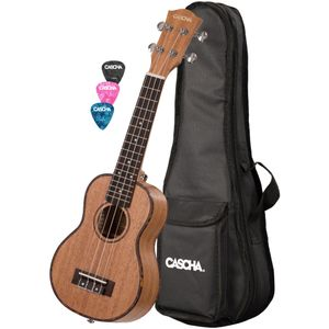 Cascha HH 2026L Left-Handed Premium Soprano Ukulele with Bag and Plectrums