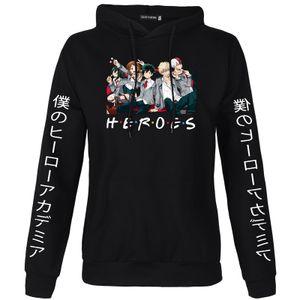 L-My Hero Academia Pullover-Sweatshirt mit japanischem Ärmeldruck, Bluse