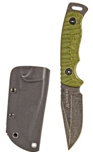 Messer Einhand-Messer Jagd-Messer Gürtel-Messer Massives Outdoor-Messer Grün 21 cm