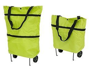 HUKITECH Einkaufstrolley mit klappbaren Rädern und Stützen (faltbar - leicht - wasserabweisend) Tasche Einkaufstasche Picknicktasche