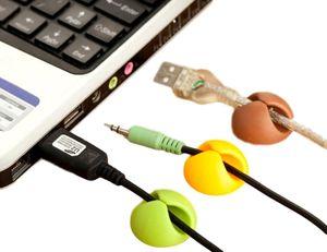 40 Kabelhalter selbstklebend | Auto Kabelhalter | Kabel Clips | Klemmen | Kabelführung Organizer Set für Schreibtisch Farb-Mix