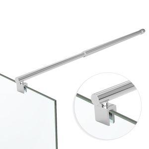 Stabilisator Haltestange HS11 für Glasdusche mit stufenloser Verstellung von 700 bis 1200 mm Glasstärken 6-10 mm Form: rund,Edelstahl,Chrom