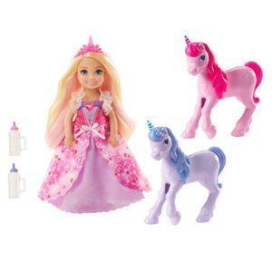 Barbie Dreamtopia Chelsea Puppe und Einhörner