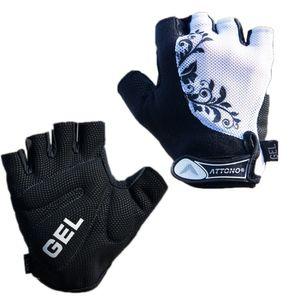 Damen Fahrradhandschuhe Gel Fahrrad Handschuhe von ATTONO® - Größe 8