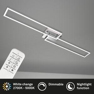 LED Wand & Deckenlampe dimmbar Fernbedienung CCT 40W Metall  Briloner Leuchten