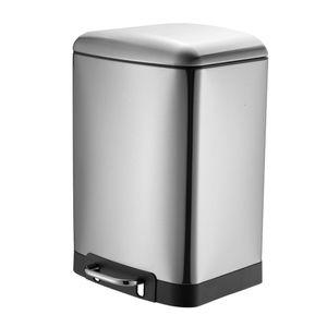 30 Liter Treteimer Küche Softclose     | Edelstahl Abfalleimer Mülleimer | Tretmülleimer Müllbehälter
