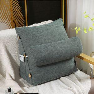 Ergonomisches Rückenkissen mit Nackenrolle Keilkissen 60cm Für Sofa Bett Büro
