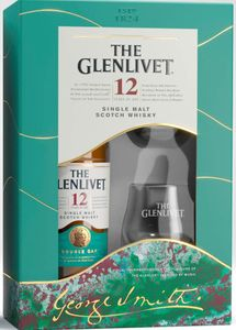 The Glenlivet 12 Jahre Single Malt Scotch Whisky + 2 Tumbler Geschenkpackung   40 % vol   0,7 l
