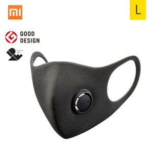 Xiaomi Smartmi Anti-Pollution Air Sport Gesichtsmaske Atemschutzmasken Block PM2.5 Haze Anti-Haze Einstellbare Ohrhaenger 3D-Design Komfortabel mit Belueftungsventil【L】