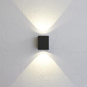 Nordlux LED Außenwandlampe Canto Kubi 2 IP44 Schwarz