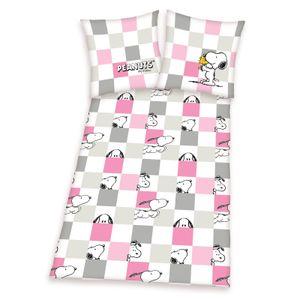Peanuts Snoopy - Bettwäsche-Set in Feinbiber von Herding, 135x200 & 80x80