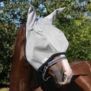 Horseware Fliegenmaske Amigo Fly Mask - silver/navy, Größe:L