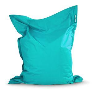 Green Bean © SQUARE XL Riesensitzsack 120x160 cm - Indoor & Outdoor Sitzsack - Gaming Bean Bag Lounge Chair - Kinder & Erwachsene - Türkis