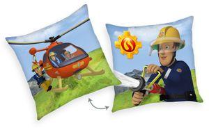Feuerwehrmann Sam Kissen 40 x 40 cm Kuschelkissen Dekokissen Wende mit Füllung