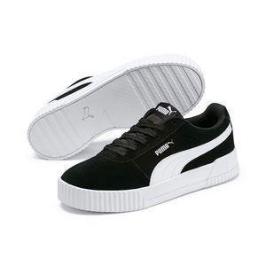 PUMA Carina Damen Low Sneaker Schwarz Schuhe, Größe:39