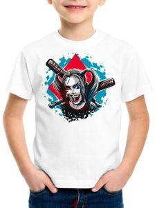 style3 Harley Quinn T-Shirt für Kinder joker punk baseball, Größe:140