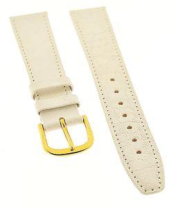 Uhrenarmband FORTIS Swiss Made LEDER weiß Ton in Ton 16mm NEU