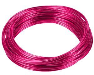 10 Meter Basteldraht 2mm, Schmuckdraht Aludraht Dekodraht Aluminiumdraht rostfreier Draht in Rosa