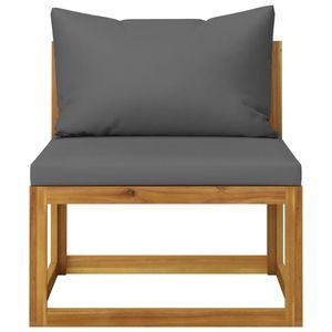vidaXL 6-tlg. Garten-Lounge-Set mit Auflagen Massivholz Akazie