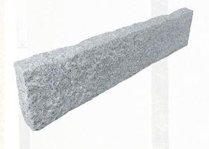 Palisade Kantenstein Granit hellgrau 8x20x100cm Oberfläche gestockt, Stück:10