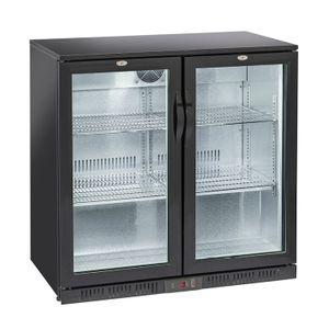 Barkühlschränk mit 2 Schwenktüren 200 Liter, 900 x 520 x 865 mm