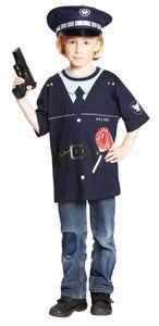 RUBIE'S Faschingskostüm - Polizeishirt, Größe: 116