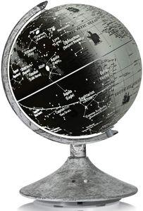 COSTWAY Weltglobus Leuchtglobus, pädagogischer Tisch-Globus mit Sternbildern, Erdglobus Nachttischlampe 23cm Durchmesser