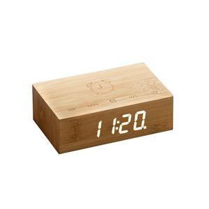 Gingko Flip Click Clock Uhr - in verschiedenen Farben, Farbe:Bambus