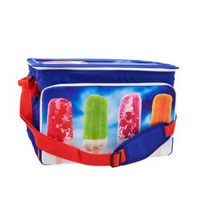 Silvertree Kühltasche Santo Domingo | 30 Liter | faltbar | blau | ca. 27 x 44 x 30,5 cm | auslaufsicher | Schultergurt | 3,5 Std. Kühlleistung | Reissverschluss | Fronttasche | Tragegriffe