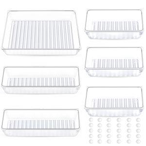 Schubladen Ordnungssystem Schreibtisch Schublade Organizer Tabletts Kunststoff Aufbewahrungsboxen Teiler Make-up Organizer für Küche Schlafzimmer Büro (6 Stücke)