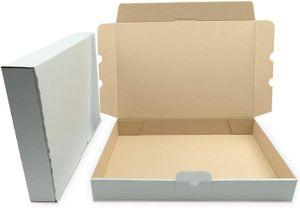 verpacking 50 Maxibriefkartons Versandkartons Faltschachtel Faltkarton Maxibrief 350 x 250 x 50 mm | Weiss | MB-5