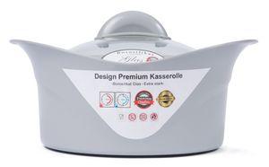 XXL Thermoschüssel Thermobehälter Isolierschüssel Kasserolle mit Deckel 3,5 Liter  (Lavendelgrau)