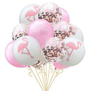 Oblique Unique Flamingo Konfetti Luftballon Set 15 Stk Kinder Geburtstag JGA Ballons rosa weiß