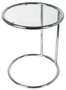 Leitmotiv beistelltisch 54 x 44 cm Stahl/Glas-Chrom
