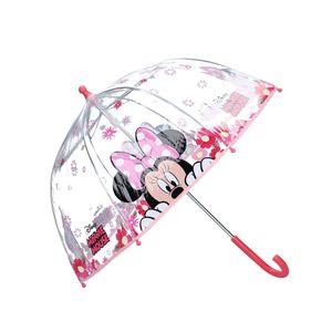minnie Mouse Regenschirm 73 cm PVC/Aluminium rosa/transparent