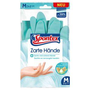 Spontex Haushaltshandschuhe Zarte Hände, Handschuhe, Spülhandschuhe, mit Mandelöl, NaturkautscHn8tex Größe:8