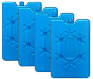 4er Set Flache Kühlelemente blau Kühlakkus Kühlbox Kühlpads Kühltasche