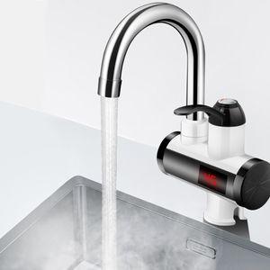 Küchenarmatur Durchlauferhitzer Badarmatur 3000W 220V LED-Anzeige Elektronische Warmwasser Wasserhahn
