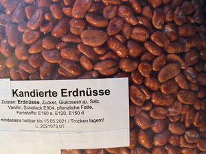 1 kg kandierte Erdnüsse, Rot, Nussautomat, Nussglocke,