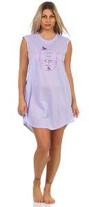 Damen Nachthemd Sleepshirt Nachtwäsche Sommer, Flieder L