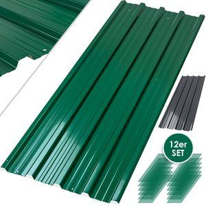 KESSER® - 12 x Profilblech Trapezblech 129cm x 45cm = 7 m² -Dachblech für Gerätehaus , Dachplatten Verzinkter Stahl 0,25mm, Farbe:Anthrazit