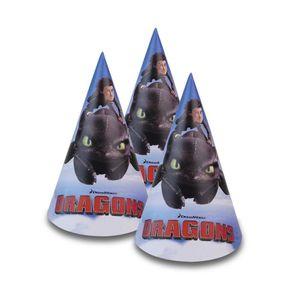 Dragons Party-Hüte 15cm hoch, 8 Stk