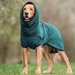 Mikrofaser Hundebademantel Schnell Trocknend Hund Bademantel Handtuch -XL Grün