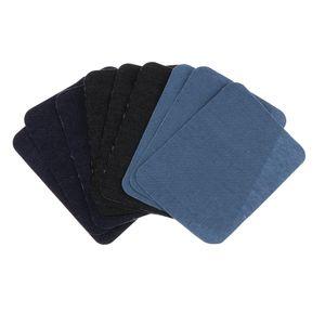 3 Paar Patches zum aufnähen, Denim Patches Reparatursatz, Dekoration für Jeans Kleidung
