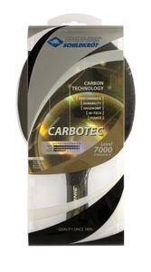 Donic-Schildkröt Tischtennisschläger CarboTec 7000, 100% Carbon, 2,3 mm Schwamm, Liga QRC - ITTF Belag, konkav