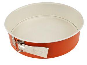 Dr. Oetker Springform Ø 26 DieMaus, runde Backform, hochwertige Kuchenform aus Stahlblech, Form mit keramisch verstärkter Antihaftbeschichtung (Farbe: Maus-Orange/Creme)