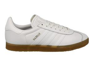 adidas Originals Gazelle Herren Sneaker Turnschuhe Schuhe Weiß, Größe:38