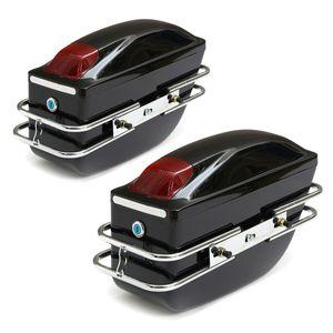 Paar Universal Motorrad Seitenkoffer Hartschalenkoffer Satteltasche Gepäcktasche